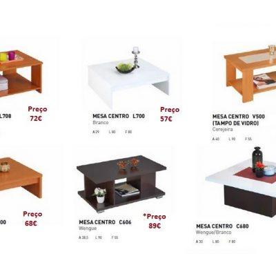 mesas de centro com preços
