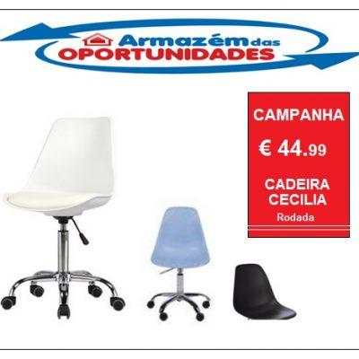 Cadeira Cecilia rodada